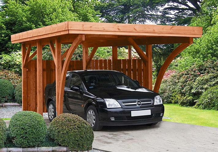 Freestanding Wooden Carport