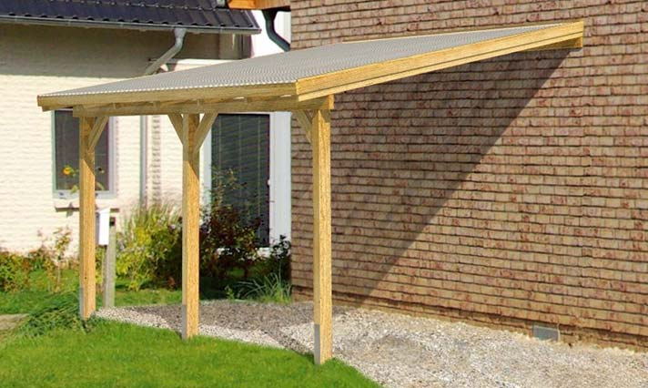 Lean-To Timber Carport