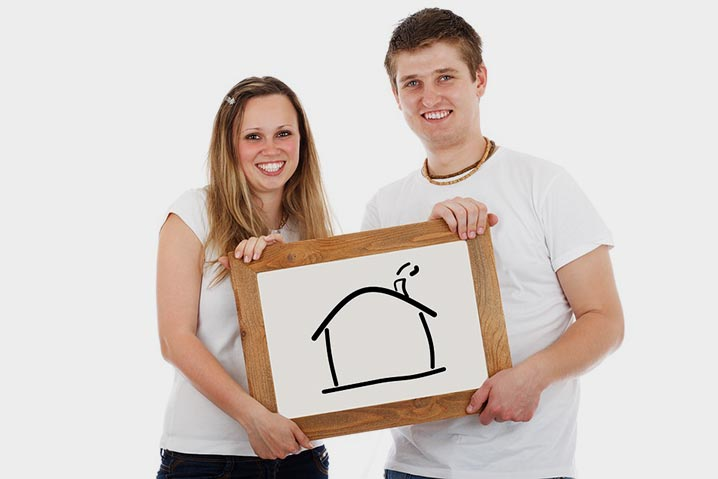 Young Couple Moving Home