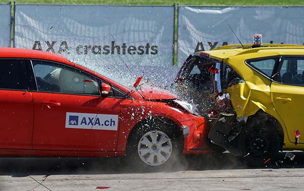 Crash Test Cars in Collision