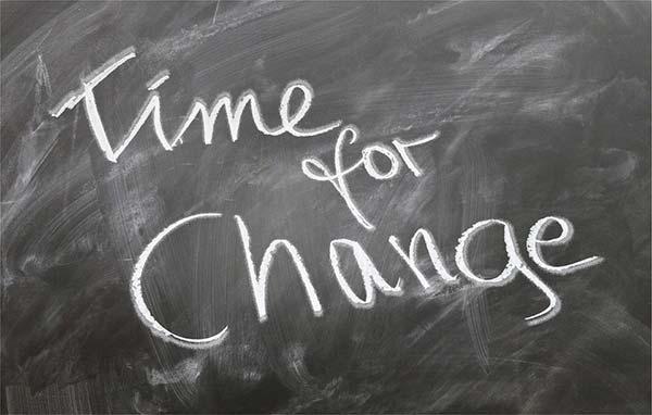 Time for Change Written on Chalkboard