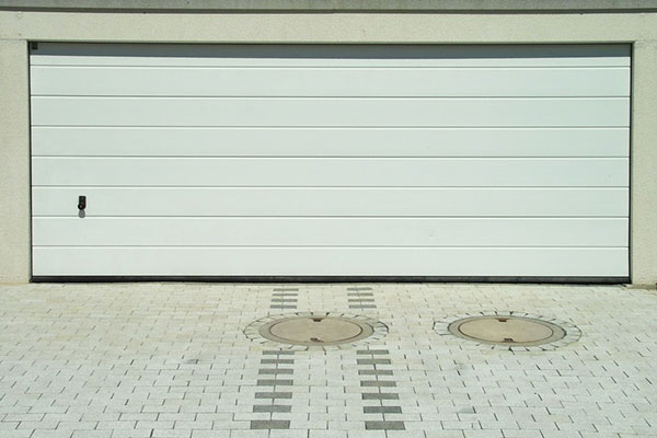 White Double Garage Door