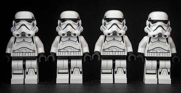 4 Toy Stormtroopers