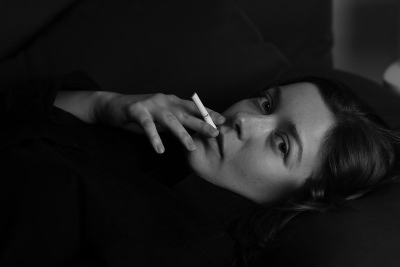 Woman Smoking Cigarette