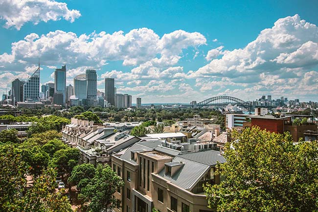 Beautiful Daytime Skyline of Sydney
