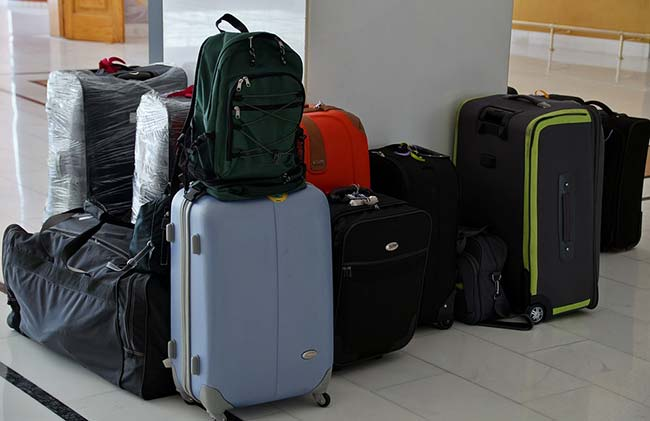 Luggage on Airport Floor