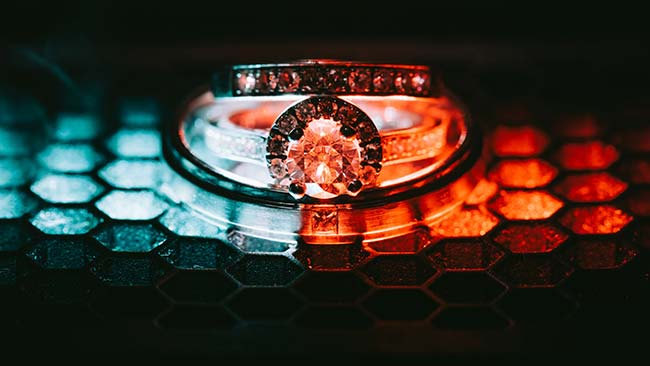 Close Up of Diamond Ring