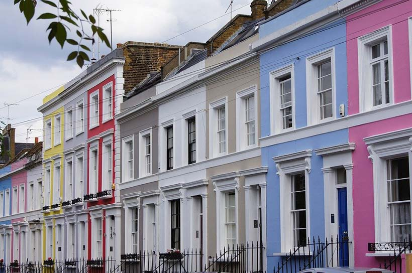 Colourful London Terraced Houses