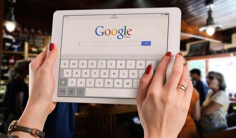 Using Google on Tablet