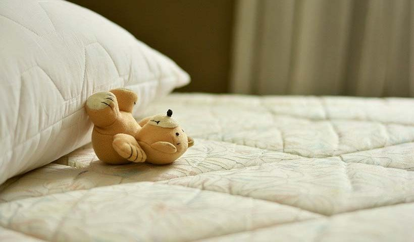 Teddy Bear on Mattress