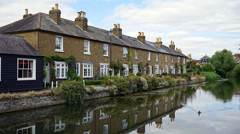 Houses on Riverbank