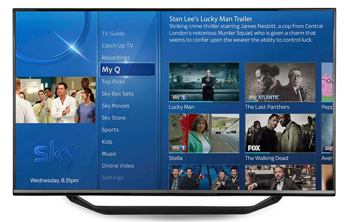 Sky Q's Electronic Programme Guide