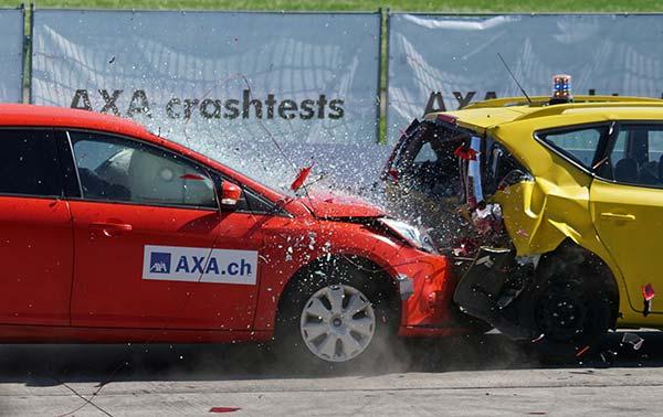 Crash Test Cars in Collision