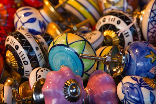 Old Fashioned Painted Door Knobs