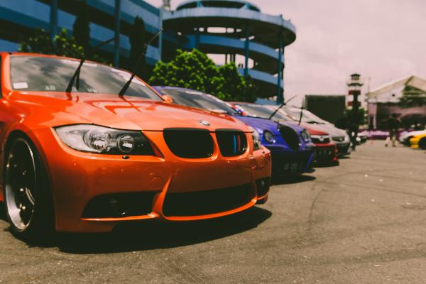 Orange BMW Car