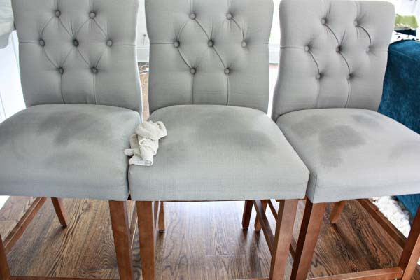 Stained Upholstered Chairs