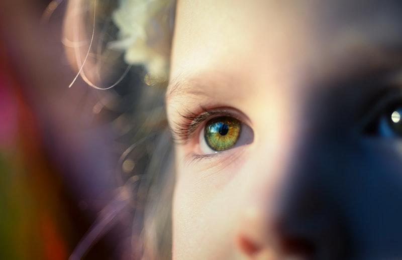 Little Girls Face Close Up
