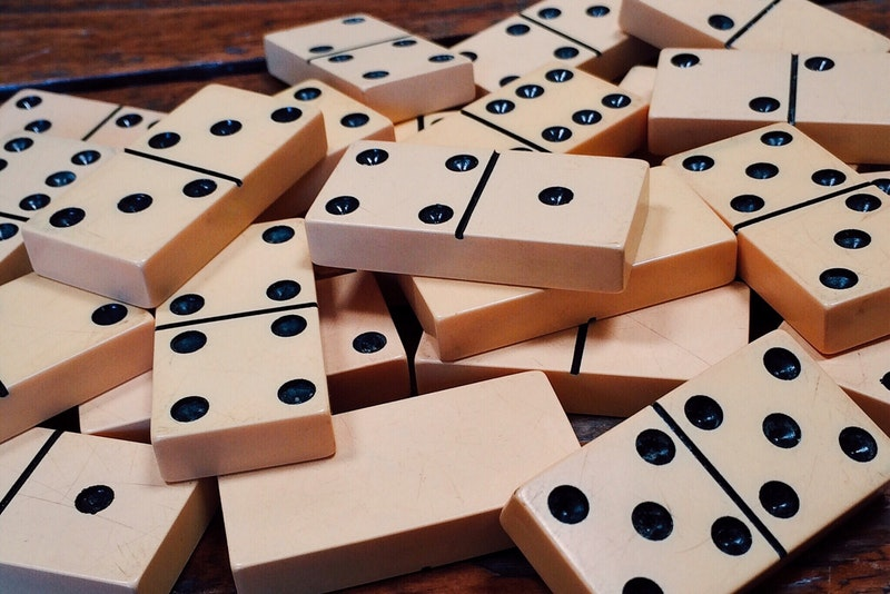 Pile of White Dominos