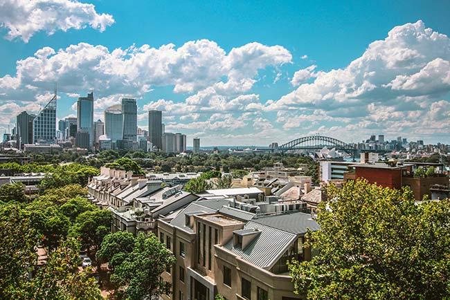 Beautiful Daytime Skyline of Sydney