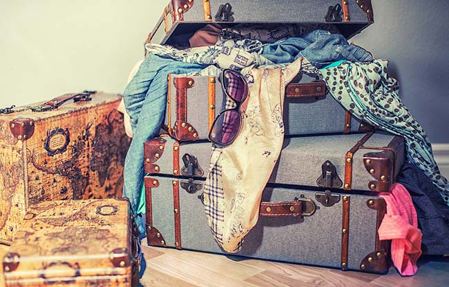 Clothes and Suitcases