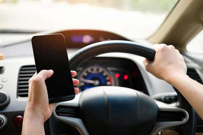 Using Smartphone Whilst Driving