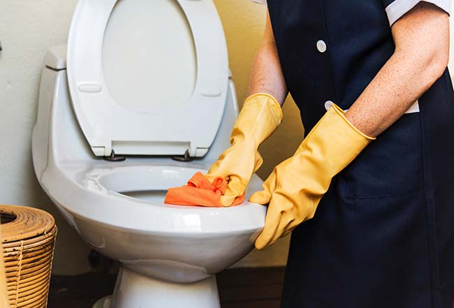 Cleaning Inside a Toilet Rim