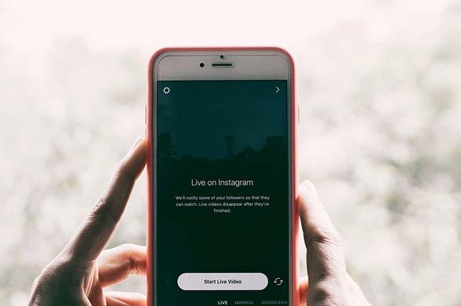 Phone Live on Instagram