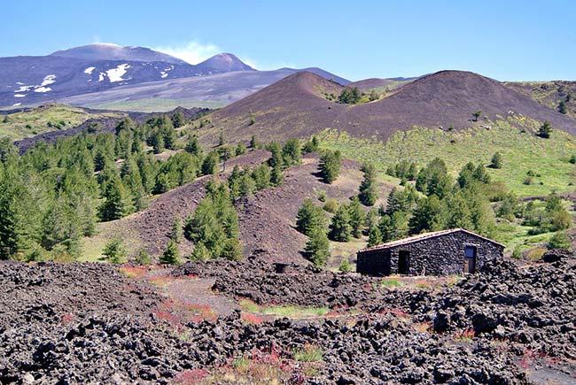 Stone Building on Mount Etna