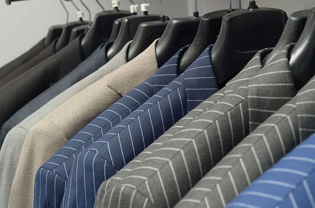 Suits on Coat Hangers