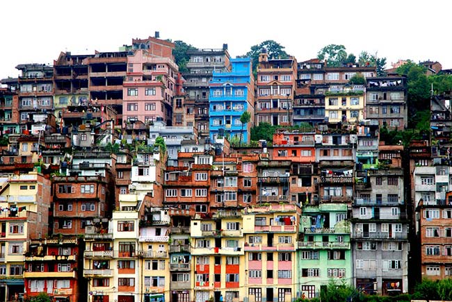 Colourful Nepalese Houses