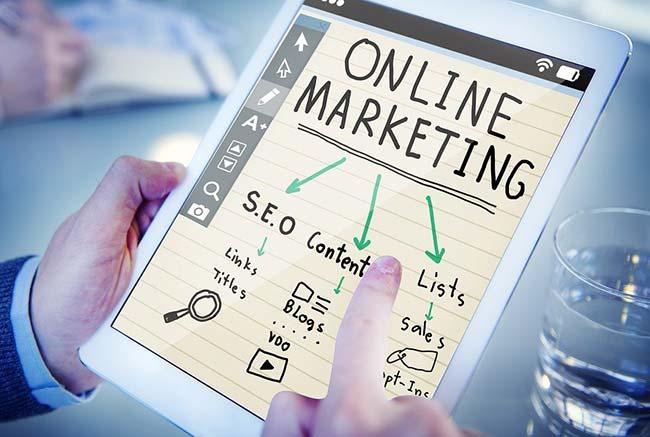 Online Marketing Strategy on iPad