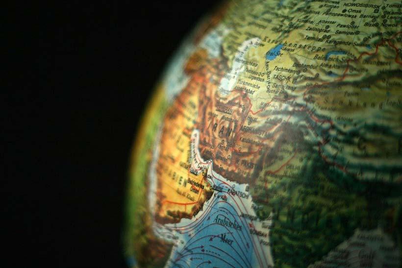 Iran on a Globe