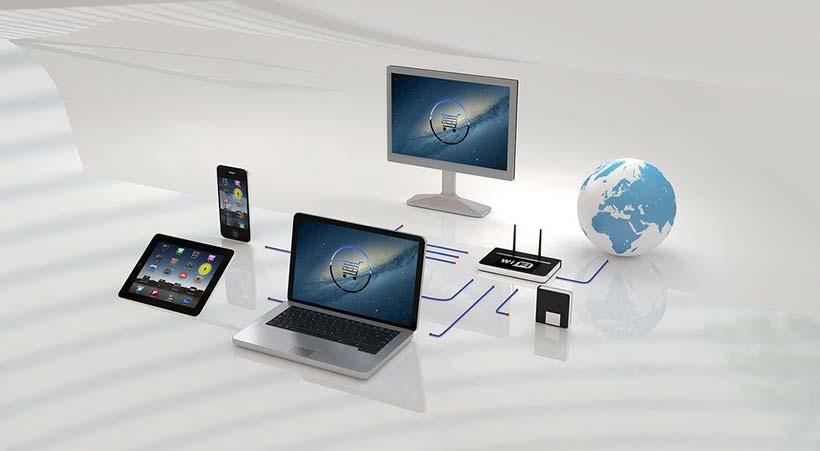 E-commerce Network Illustration