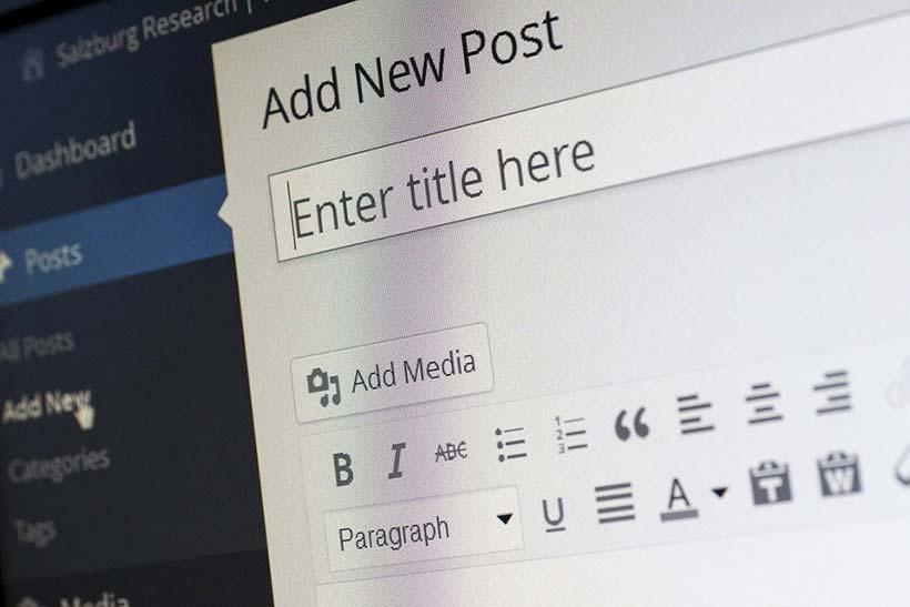 Wordpress Add New Post Screen